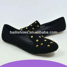 guangzhou factory lady flat shoes 2013