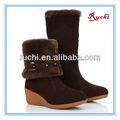 Moda mulher& neve botas de inverno botas de pele de carneiro