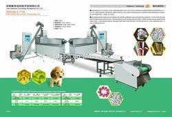 Automatic 100kg/h Pet Chews/Dog Treats Extruder Plant Equipment