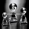 venta al por mayor de vidrio de cristal globo en el stand premios trofeo con el logotipo personalizado