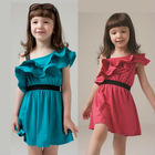 2014 spring new pure cotton lace fashion girls' party dress,kids frocks designs dress