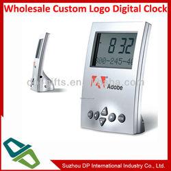 desktop digital LCD alarm clock with large display
