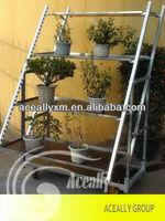 flower garden shelving cart