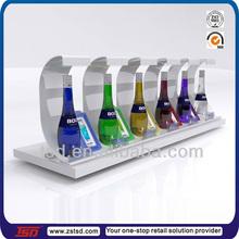 TSD-A761 durable six bottle acrylic wine bottle holders,acrylic wine counter display,retail wine displays counter acrylic