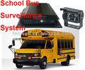 La escuela completa solución de autobús/4 móvil ch video cámaras de video dvr sistema de vigilancia