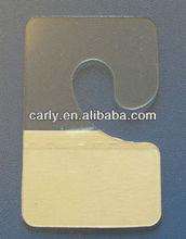 Self-adhesive J hook Hang Tabs