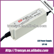 Meanwell 40W 54V PFC LED driver IP67 LED power supply/SMPS/PSU