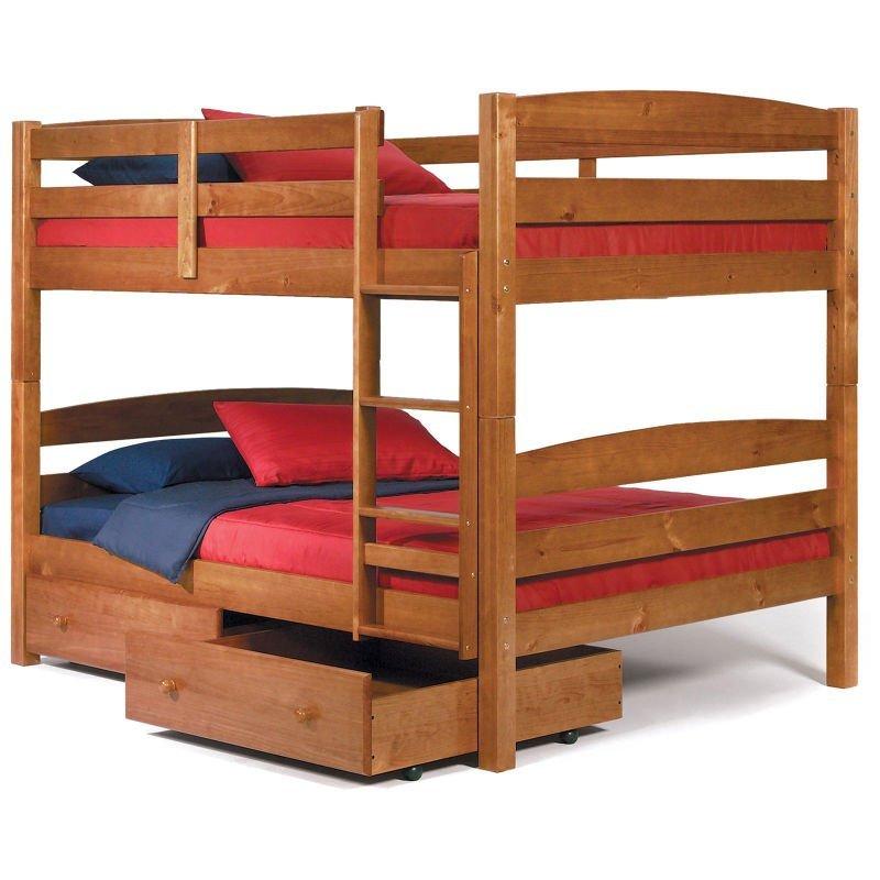 Wooden Kids Double Deck Bed