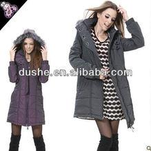 2012 newest design ladies wool long winter coats