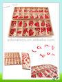 Medios de enseñanza Montessori juguetes de madera árabe del alfabeto móvil ( rojo y azul ) L020-1