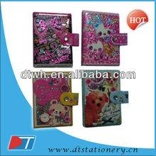 PVC hardcover notebook/spiral loose leaf book/mini book