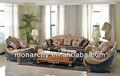 v129d elegante sólida de madera tallado a mano conjunto de sofás simple mobiliariodesala