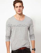 new model men's cotton long sleeve t-shirt blank jersey tops for men
