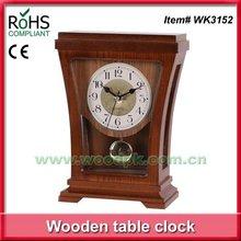 Hecho a mano viejo relojes de péndulo de lujo reloj de ajedrez reloj
