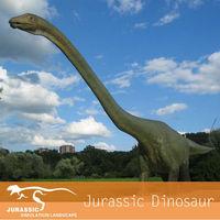 Jurassic Long Neck Playground Metal Dinosaur Model