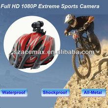 HD1080p sport video camera dvr Waterproof Bullet Style ,Moto, MTB, Skiiing,Snorkeling,Glidparauting,RC Toys
