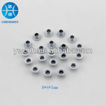 White metal eyelet for bags and shoes