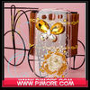 Transparent bling diamond case for apple iphone 4 cover(or any other models you want)