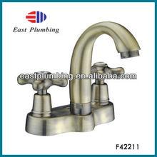F42211 Peerless two cross handle centerset bathroom faucet gold finish