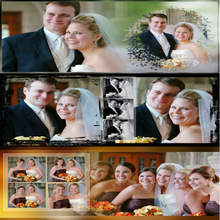 Handmade elegant wedding photo album