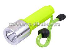 Q5 Green Handle waterproof LED Diving Flashlight