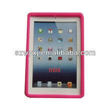 wholesale silicone skin cover case iPad mini case & pink