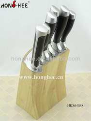Double Forged 6 Piece Storage Block Kitchen Knives