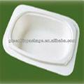 biodegradables y desechables pulpa de caña de azúcar de la placa plana