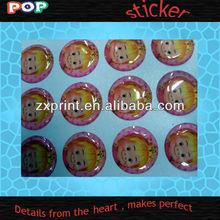 2012 popular Crystal sticker 3d Epoxy domed sticker