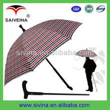 good quality senior citizens umbrella curve handle straight umbrella