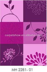 Pink flower pattern carpet/acrylic carpet/wool rug