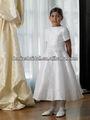 2013 adorável gordura de manga curta vestidos longos meninas flor ' FC058