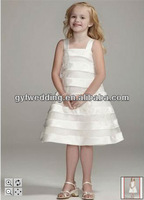 Square neck flower girl party dresses for 3 year old girl
