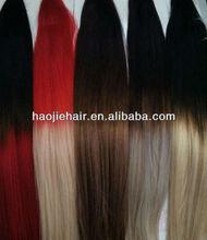 Balayage keratin tip virgin russian hair two tone remy hair extension