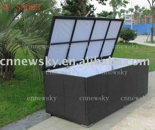 Outdoor Rattan Furniture Kd Storage Box Cushion Box Pillow