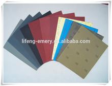 Wet & dry abrasive paper sheet