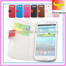 Gorgeous mixed colors genuine leather phone case for samsung i9300 galaxy s3