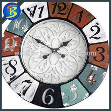 Luxury Antique Decorativeretro Reclaimed Wooden Wall Clock
