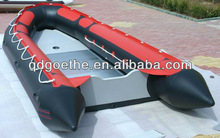 Laixi Inflatable sports boats GT-S430 4.3m long , 8-people capacity, korean PVC,Aluminium Floor,outboard engine,free pump