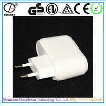12W RoHS CCC TUV CE CB GS SAA FCC ETL Approved Electric Adaptor Plug