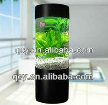 Stocked Cylindrical Acrylic Aquarium Round Acrylic Aquarium Cylindrical Acrylic Fish Tank