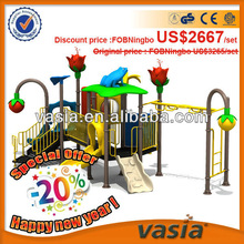 GS certifed daycare playground equipment, daycare playground centre, outdoor play station set with swing