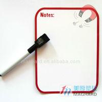decorative magnet board with mark pen dry erase fridge magnet writing board