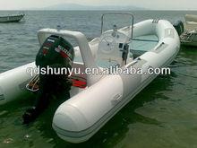 hot!!!CE korea PVC10 passengers double V deep hull 5.2m rigid inflatable rib boat