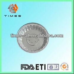 Round aluminium foil container