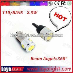 Hight power led bulb, tuning lights T10/BA9S 2.5W led car bulb factory