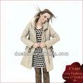 Barato señoras prendas de vestir de alta- gris de cuello largo anti- frío abrigo deinvierno
