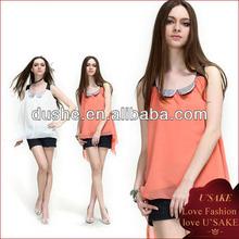 fashion tank tops ladies dressy chiffon blouse