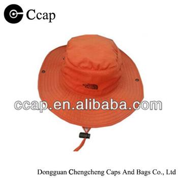 2015 custom orange wide brim printed adjustable bucket hat