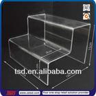 TSD-A744 China factory custom table top acrylic riser display,shoe display riser,acrylic riser display stand
